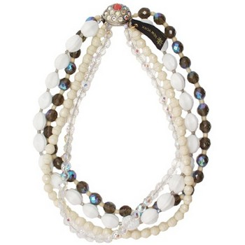Gerard Yosca - Neutral/Multi Bead Four Strand Necklace (1)