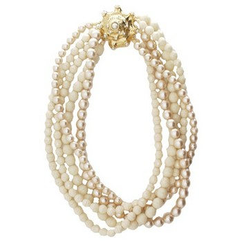 Gerard Yosca - Multi Four Strand Bead Necklace w/Clasp (1)
