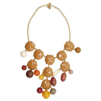 Gerard Yosca - Brown Mega Stone & Bead Necklace (1)
