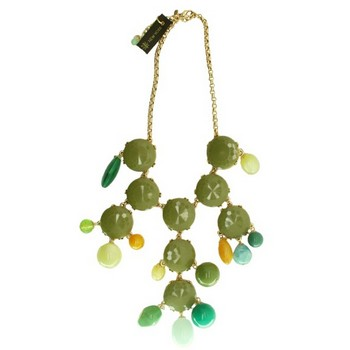 Gerard Yosca - Green Mega Stone & Bead Necklace (1)