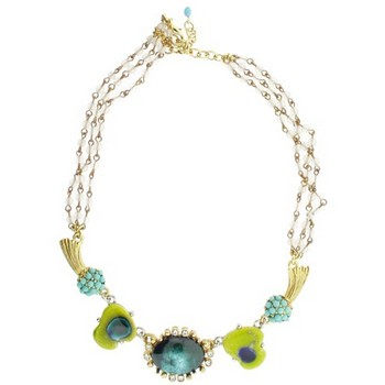 Gerard Yosca - Green Vintage Stone on Link Chain Necklace (1)