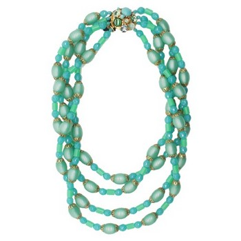 Gerard Yosca - Green Bead & Four Strand Necklace w/Clasp (1)