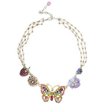 Gerard Yosca - Large Butterfly & Multi Flower Necklace (1)