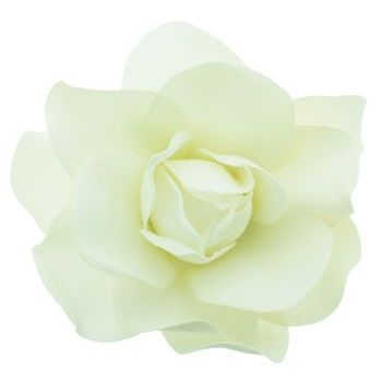 Karen Marie - Le Fleur Collection - Large Gardenia Hair Clip - Snow White (1)