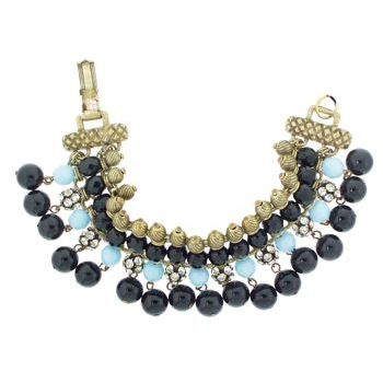 Gerard Yosca - Jet Bead on Fringe Bracelet (1)  (All sales final on sale items.)