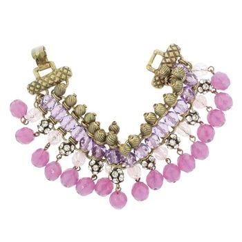Gerard Yosca - Pink Bead on Fringe Bracelet (1) (All sales final on sale items.)