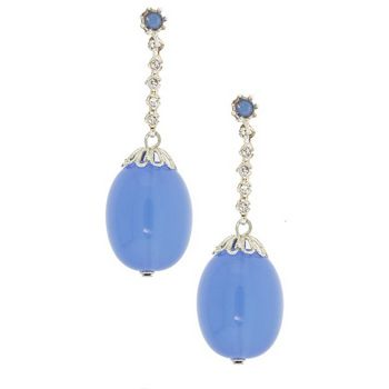 Gerard Yosca - Blue Filigree Bead Drop Earrings (2 Earrings Per Set)