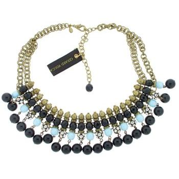 Gerard Yosca - Jet Bead on Fringe Necklace (1)