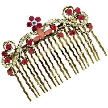 Karen Marie - Antique Crystal Garden Comb - Ruby (1)