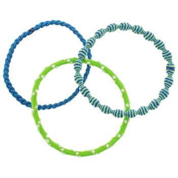 L. Erickson - Grab N Go Pony - Lime Green, Blue & White Tone