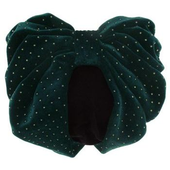 Karen Marie - Snood Collection - Large Velvet Snood with Gold Studs - Emerald
