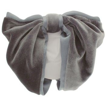 Karen Marie - Snood Collection - Velvet & Satin - Gunmetal Gray