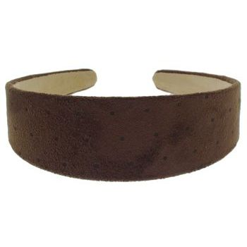 Karen Marie - Suede Dotted Headband - Chocolate Brown w/Dots (1)