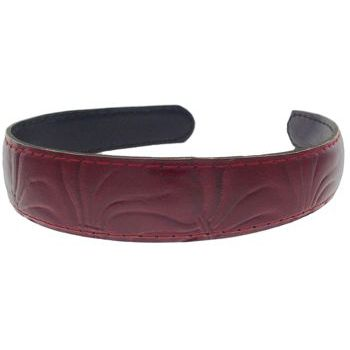 Karen Marie - Leather Inspired Headband - Red (1)