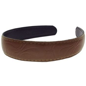 Karen Marie - Leather Inspired Headband - Milk Chocolate (1)