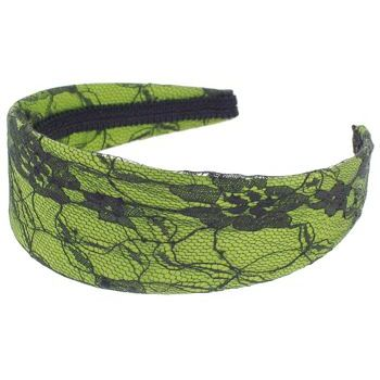 Karen Marie - Lace Covered Headband - Lime (1)