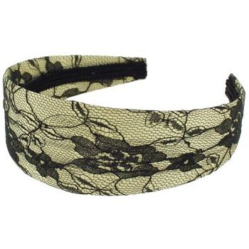 Karen Marie - Lace Covered Headband - Champagne (1)