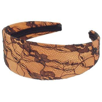 Karen Marie - Lace Covered Headband - Tangerine (1)