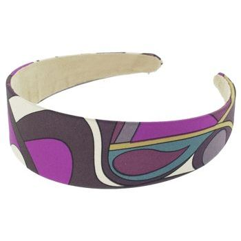 Karen Marie - Abstract Satin Headband - Amethyst (1)