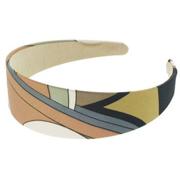 Karen Marie - Abstract Satin Headband - Apricot (1)