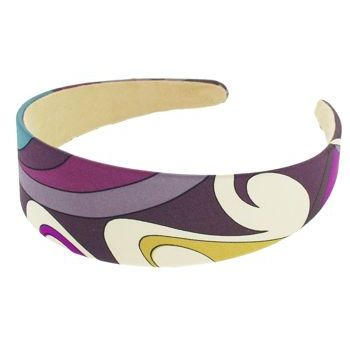 Karen Marie - Abstract Satin Headband - Plum (1)