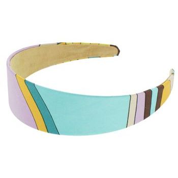 Karen Marie - Abstract Satin Headband - Lavender (1)