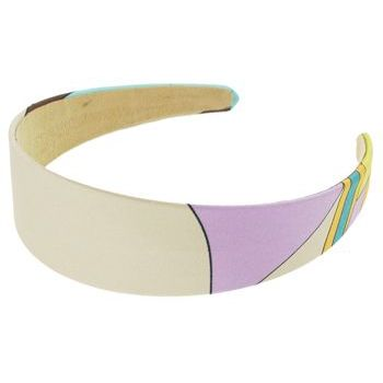 Karen Marie - Abstract Satin Headband - Ivory (1)