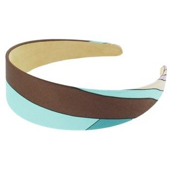 Karen Marie - Abstract Satin Headband - Aqua (1)