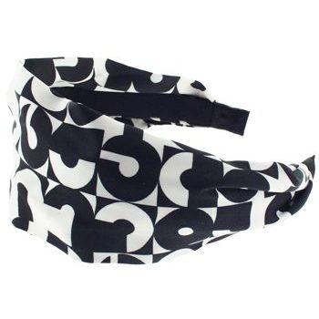 Karen Marie - Retro Black & White Sateen Scarf Headband - Retro Checkerboard (1)