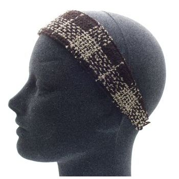Susan Daniels - Soft Boucle Headband - Brown Tweed (1)