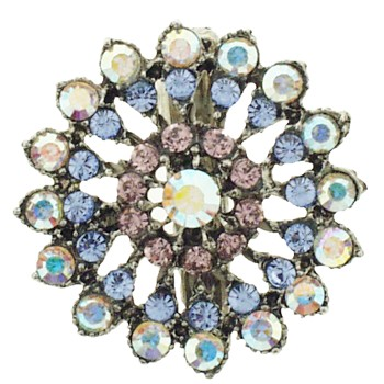 SOHO BEAT - Masquerade Collection - Jeweled Swarovski Firework Hair Clip - Lavender Fields of Blue & Purple