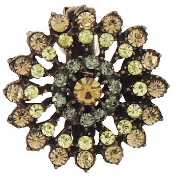 SOHO BEAT - Masquerade Collection - Jeweled Swarovski Firework Hair Clip - Citrine & Yellow Diamond