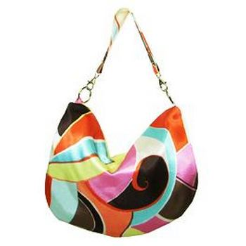 Amici Accessories - Sea Isle Hobo - Poly Charmeuse - Multi-Hues
