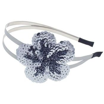 Juko - Double Band w/Sequin Flower Headband - Pewter (1)
