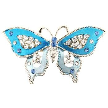 HB HairJewels - Michelle Collection - Butterfly Barrette - Blue