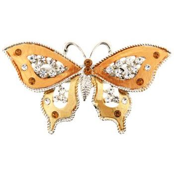 HB HairJewels - Michelle Collection - Butterfly Barrette - Gold