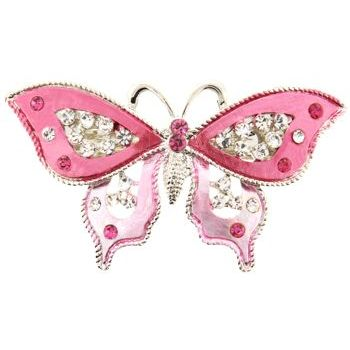 HB HairJewels - Michelle Collection - Butterfly Barrette - Rose