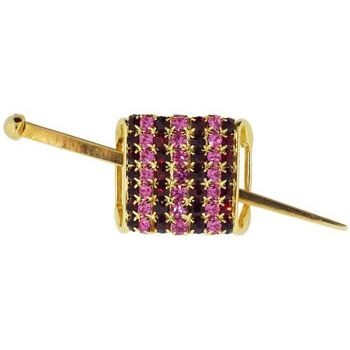Alex and Ani - Hair Sweep - Large Gold Metal - Ruby Red & Rose Hued Crystals (1)