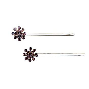 HB HairJewels - Starburst Crystal Hairpins - Bright Amethyst (2)