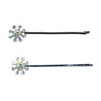 HB HairJewels - Starburst Crystal Hairpins - White AB (2)