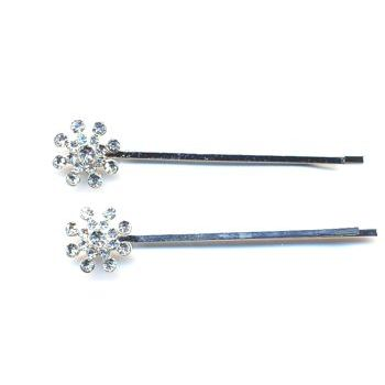 HB HairJewels - Starburst Crystal Hairpins - Brilliant White (2)