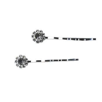 HB HairJewels - Austrian Crystal Silver Hairpins (2)