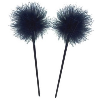 HB HairJewels - Lucy Collection - Feather Hairstick - Sapphire (Set of 2)
