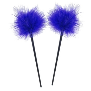 HB HairJewels - Lucy Collection - Feather Hairstick - Violet (Set of 2)