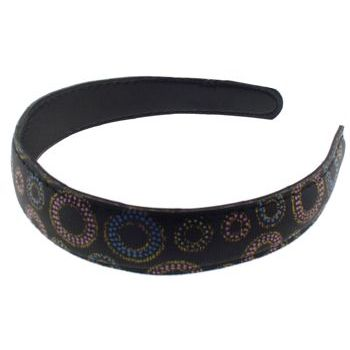 HB HairJewels - Lucy Collection - Faux Leather Grosgrain Headband (1)