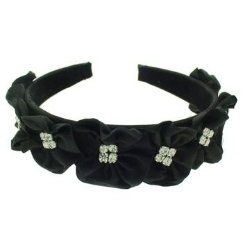 Balu - Crystal Flower Headband - Black (1)