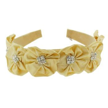 Balu - Crystal Flower Headband - Pale Yellow (1)