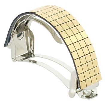 HB HairJewels - Thin Mirrored Ponytail Holder - Gold