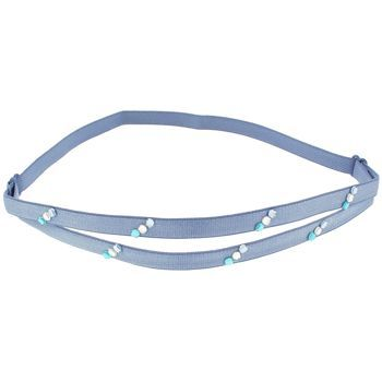 HB HairJewels - Lucy Collection - Fashion Flash Bra Strap Headband - Steel Blue (1)