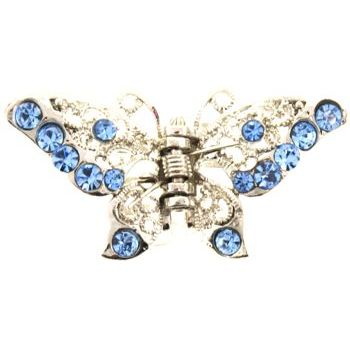 HB HairJewels - Michelle Collection - Petite Butterfly Claw - Blue